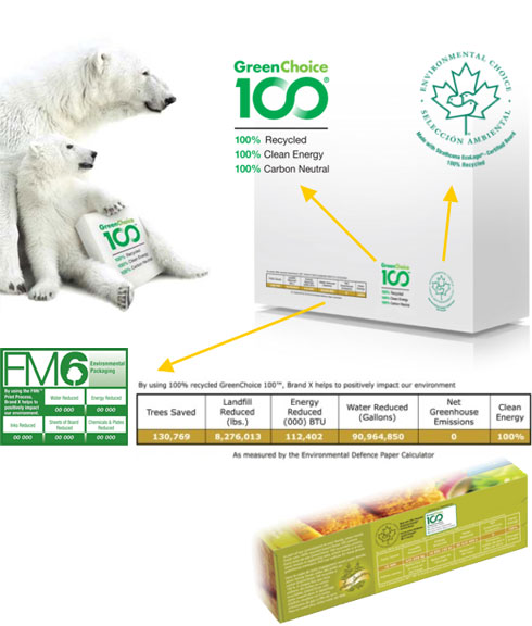 Environmental Logo Use Diagram